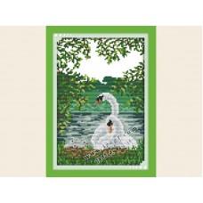 """Набор для вышивания крестиком """"Лебеди"""" D141-2"""