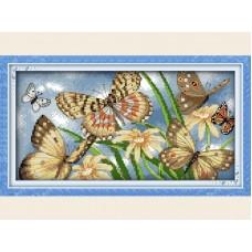 """Набор для вышивания крестиком """"Бабочки"""" D202"""