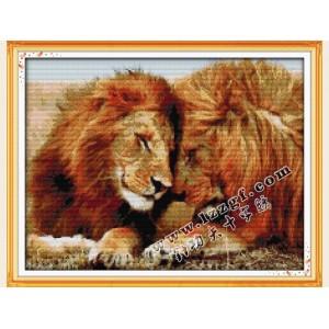 """Набор для вышивания крестиком """"Пара львов"""" D426"""