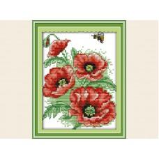 """Набор для вышивания крестиком """"Детские пчелка и цветы"""" H242"""