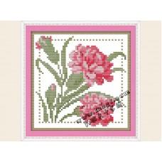 """Набор для вышивания крестиком """"Детские цветочек - январь"""" H423"""