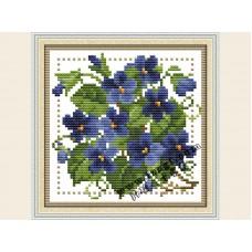 """Набор для вышивания крестиком """"Детские цветочек - февраль"""" H424"""