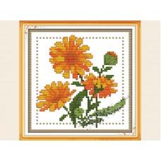 """Набор для вышивания крестиком """"Детские цветочек октябрь"""" H432"""