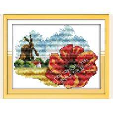 """Набор для вышивания крестиком """"Детские цветочек и мельница"""" H635"""