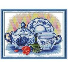 """Набор для вышивания крестиком """"Чайный сервиз"""" J178"""