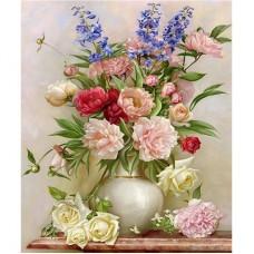 """Алмазная мозаика """"Букет цветов в вазе"""" F20"""